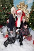 Tori Spelling and Stella McDermott at Santa's Secret Workshop