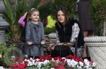alessandra Ambrosio with daughter Anja at the Grove in LA