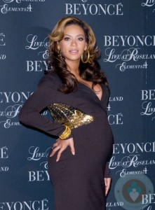 Pregnant Beyonce at the release of her new DVD