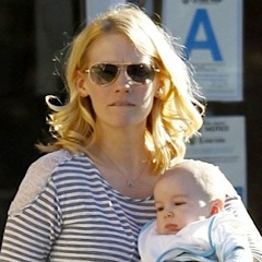 January Jones Steps Out With Her Little Man!