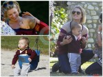 Ali Larter plays at the park with Teddy