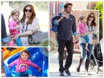 Alyson Hannigan and family at the park
