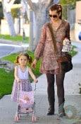 Alyson Hannigan strolls with daughter Satyana in LA
