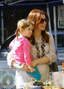 Alyson Hannigan with daughter Satyana @ the market