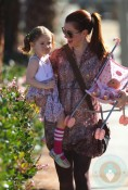 Alyson Hannigan with daughter Satyana in LA