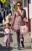 Alyson Hannigan with daughter Satyana in LA 2