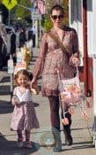 Alyson Hannigan with daughter Satyana in LA 2