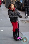 Ava Jackman scooting around NYC