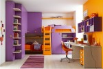 Battistella Klou XL loft bed purple