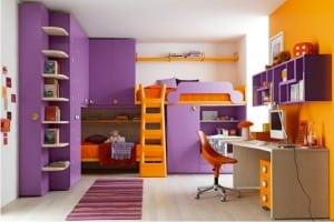 Battistella Klou XL loft bed purple