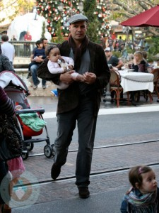 Billy Zane at the Grove with his daughter Eva-Katerina
