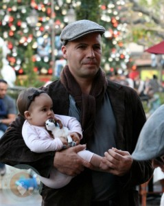 Billy Zane with daughter Eva-Katerina at the Grove