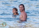 Chris Hemsworth Pregnant Elsa Pataky on vacation in St