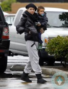 Ellen Pompeo with daughter Stella Ivery at the coffee shop
