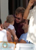 Elton John and son Zachary in Hawaii