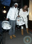 Nick Cannon and Mariah Carey with their twins on NYE