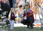 Ali Larter and Theodore Hayes MacArthur at the park