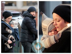 Guillaume Canet & Marion Cotillard with son Marcel