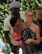 Heidi Klum and Seal with daughter Lou