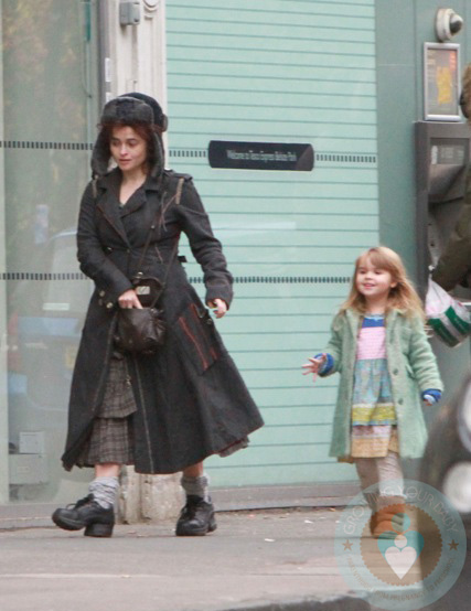 Helena Bonham Carter and daughter Nell shop at Tesco ... Helena Bonham Carter