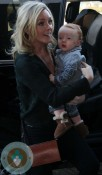 Jane Krakowski with son Bennet @LAX