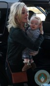 Jane Krakowski with son Bennet at LAX