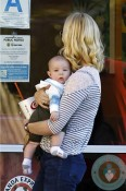 January Jones and her son Xander out in LA 5