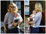 January Jones out with her son Xander in LA