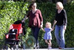 Jennifer Garner and Seraphina Affleck out for a walk on New Years Day