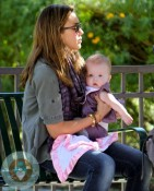 Jessica Alba with daughter Honor Warren at the park