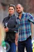 Keri Russell and Shane Deary stroll in Brooklyn