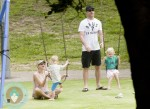 Liev Schreiber and Naomi Watts at the park with their boys
