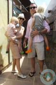 Liev Schreiber and Naomi Watts with their boys Sammy and Sasha in Australia