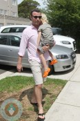 Liev Schreiber and son Sasha in Australia