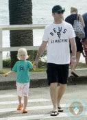 Liev Schreiber with son Sasha in Australia