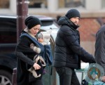 Marion Cotillard & Guillaume Canet with son Marcel out in SoHo
