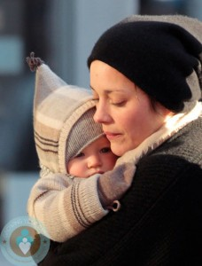 Marion Cotillard with son Marcel out in SoHo