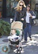 Monet Mazur and her son Luciano @ the Grove