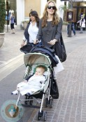 Monet Mazur shopping with her son Luciano @ the Grove
