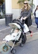 Monet Mazur with her son Luciano @ the Grove