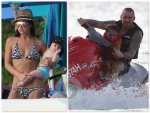 Myleene Klass and her family in Barbados