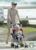 Naomi Watts strolls with her son Sammy in Australia