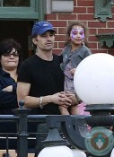 Olivier Martinez and Nahla Aubry at Disneyland