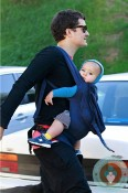 Orlando Bloom Hikes the hills with son Flynn