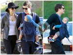 Orlando Bloom and Miranda Kerr hike with Flynn