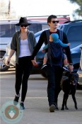Orlando Bloom and Miranda Kerr hike with Flynn in LA