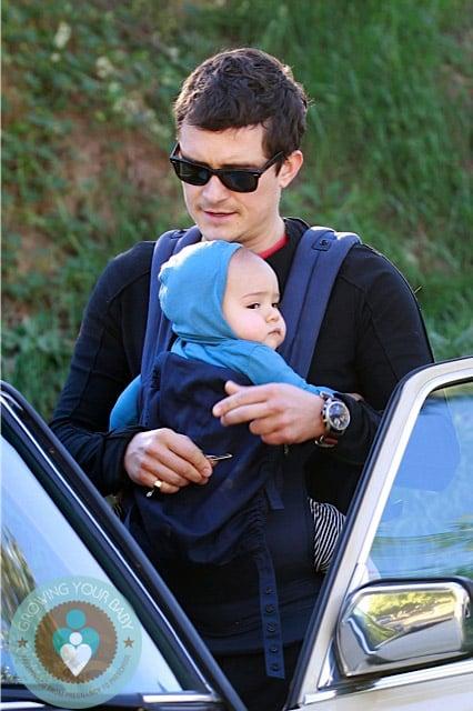 Orlando Bloom with son Flynn in LA