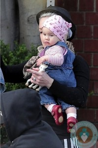 Pink and daughter Willow at Venice beach