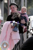 Pink with daughter Willow @ Venice beach