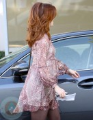 Pregnant Alyson Hannigan Gets Her Hair Done in La